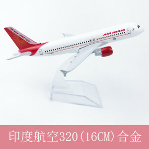 16CM Air India A320 Solid Passenger Airplane Plane Aircraft Metal model