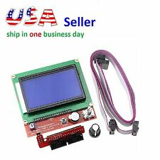 12864 Display LCD 3D Printer Controll Panel + Adapter for RAMPS 1.4 Mega 2560
