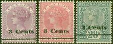 Ceylon 1892 Set of 3 SG241-243 Fine Mtd Mint