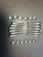 1940-1952 Packard Nash windshield finish moulding screws washers stainless