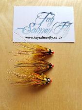 "3x Willie Gunn Pot Belly Pig 1/2"" Copper Tube Salmon Fishing Flies"