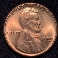 1955 DOUBLE DIE OBVERSE DDO LINCOLN CENT GORGEOUS RARE GEM BU+++++++++++++++++++