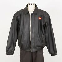Mens Soft Leather Jacket Size XL Insulated Quilted Liner PORT AUTHORITY