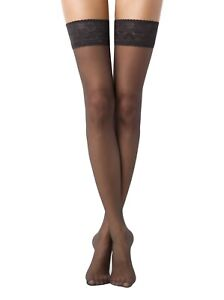CONTE Stockings Class 20 Den Stay Ups with Lace Silicone Top