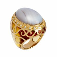 Cristina Sabatini Agate Noble Ring in 14K gold-Plated Sterling Silver