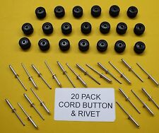 20 PIECE CORD BUTTON KIT FOR TUB UTILITIES + RIVETS (TNSAC03)