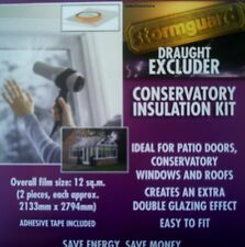 Double Glazing Draught excluder INSULATION FILM KIT for Windows Patio Door 12sqm