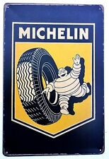 MICHELIN  METAL TIN SIGNS vintage cafe pub bar garage decor shabby chic