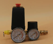 120PSI Air Compressor Pressure Switch Control Valve/Manifold Regulator Gauges FL