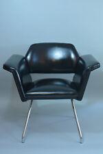 FAUTEUIL STEINER MOTTE GUARICHE A.R.P Prisme NOIR Design Indus 1950 Vintage X 2