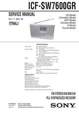 SONY ICF-SW7600GR SERVICE MANUAL ON A CD