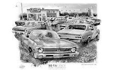 "CHEVY NOVA  ""RUSTY RELICS"" MUSCLE CAR AUTO ART PRINT   ** FREE USA SHIPPING *"