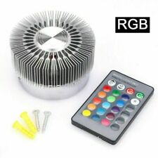 3W RGB LED Ceiling Fixture Lamp Spot Down Light Remote Control Color Changing
