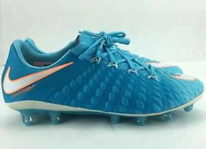 Nike Womens Hypervenom Phantom 3 AG-PRO Soccer Cleats Blue 881549-415 Size 8