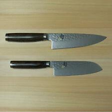 "New Shun Premier 6"" Chef/5,5"" Santoku Knife Set TDM0723/TDM0727 Japan Tsuchime"