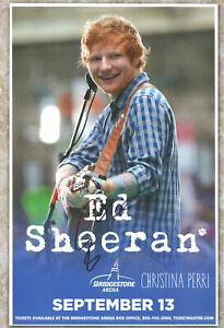 Ed Sheeran autographed concert poster
