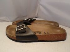 Birkenstock Betula Womens 36 / 5 Luca Black Rhinestone Buckle Slides Sandals