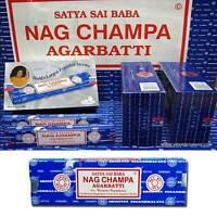 Satya Sai Baba NAG CHAMPA Incense Sticks Box x 12 / 5 / 3 x15g  Packs Agarbathi