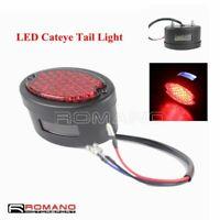 12V Motorcycle LED Tail Light For Harley Shovelhead Cat Eye Rear Brake Stop Lamp