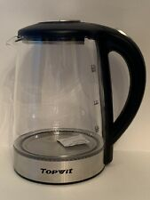 Topwit Electric Kettle Glass 2 Liter Replacement Kettle Black New