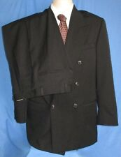 Men's Christian St. John Limited Franco Tassi Suit Double Breasted Black 36R