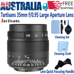 7artisans 35mm F0.95 Lens for FUJIFILM X Sony E Canon EOS M Nikon Z M4/3 Olympus