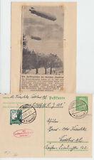 L.Z. 129 / 1. Postfahrt 1936 - Karte nach Cottbus + interessanter Zeitungsbeleg