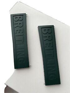 Breitling OEM Original GREEN RARE  Rubber Strap 292S Twin Pro 24mm-20mm BOUTIQUE