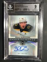 2018-19 The Cup Brad Marchand Enshrinements /99 BGS 9 MINT 10 Auto