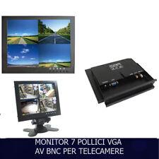 MONITOR 7 POLLICI 1080P COLORI LCD VGA BNC VIDEOSORVEGLIANZA HD TELECAMERE