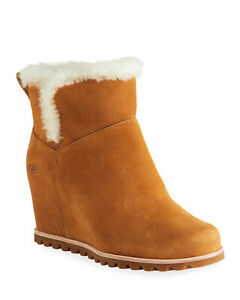 UGG Seyline Waterproof Wedge Boot CHESTNUT NEW w/ TAGS!