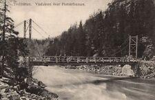 15746/ Foto AK, Trollhättan, Viadukten över Flottströmmen, ca. 1910