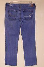 "American Eagle sz 8 Shortened Hemmed Extra Short Artist Stretch Jeans 25"" Length"