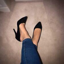 Ladies Black Pointed Court Heels Shoes