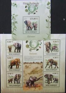 Mozambique -African elephants-2010-1 M/Sh.+1 S/Sh.MNH**, MZ059