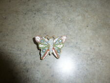 Vintage Mosaic Pin Brooch Italy Butterfly Jewelry