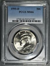 1995-D 50c KENNEDY HALF DOLLAR COIN, PCGS CERTIFIED  MS 66,  SKU-LV17