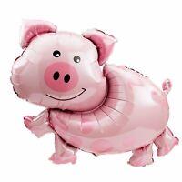 "Pig Mylar Foil Balloon Barn Animal Party Decoration XL 35"""