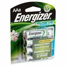 AA Energizer Rechargeable NiMH Batteries, 8/pack EXP 2021 AA8 2300mAh