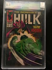 Incredible Hulk 107 CGC 6.0 Off-White To White Pages Ten Rings Hath the Mandarin