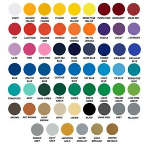 "Oracal 651 vinyl Adhesive Vinyl 12"" x 5ft Roll Assorted Colors Craft"