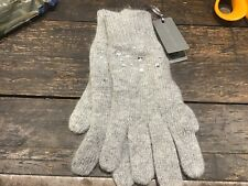 Laura Ashley Grey Wool Blend Gloves Brand-New