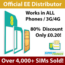 EE 4G Pay As You Go £10 Pack Standard, Micro, Nano SIM Fits All Phones T-MOBILE