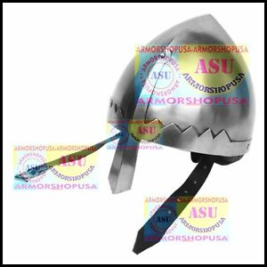 Norman Nasal Helmet with Chin Strap, Knights Helmet Re-enactment role-play