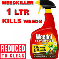 More details for weedol rootkill plus weedkiller 1l fast acting spray gun kills roots weeds