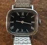 Vintage Ladies Timex Wind Up Watch Parts/Repair Roman Numerals Rectangle Case