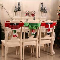 Weihnachten Stuhlhussen Mütze Stuhlabdeckung Stuhlbezug Weihnachtsmann Party