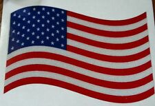 "American Flag set of 2 Reflective Decals,  3"" wide  #EF39"