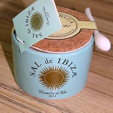 (1kg = 80,- €) sal de ibiza: Fleur de sel de Ibiza, cerámica olla con cuchara, 150g