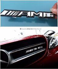 1PCS AMG Logo 3D Aotu Refit Front Emblem Metall Dekoration Abzeichen Für Benz
